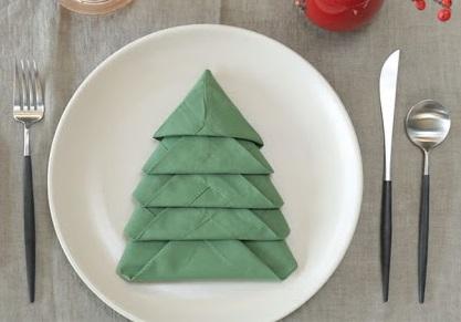"""Мастер-класс """"Как красиво сложить салфетки для сервировки новогоднего стола"""""""