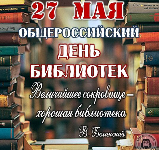 27 мая - Общероссийский день библиотек!